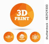 3d technology icons. printer ... | Shutterstock .eps vector #482929300