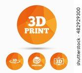 3d technology icons. printer ... | Shutterstock .eps vector #482929300