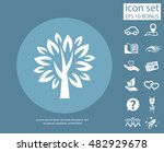 pictograph of tree | Shutterstock .eps vector #482929678