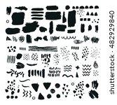 vector set of brush strokes ... | Shutterstock .eps vector #482929840