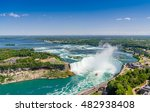 aerial view of niagara... | Shutterstock . vector #482938408