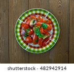 west african spinach with... | Shutterstock . vector #482942914