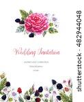 flower for wedding invitation ... | Shutterstock . vector #482944048