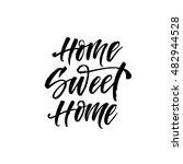 home sweet home postcard. hand... | Shutterstock .eps vector #482944528