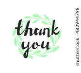 thank you handwritten vector... | Shutterstock .eps vector #482944798