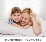 playing mother and daughter | Shutterstock . vector #482947663