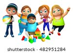 3d rendered illustration of kid ... | Shutterstock . vector #482951284