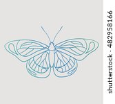 painted butterfly | Shutterstock .eps vector #482958166