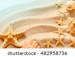 sea shells with sand as... | Shutterstock . vector #482958736