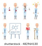 set of old professor characters ...