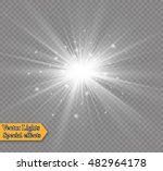 glow light effect. star burst... | Shutterstock .eps vector #482964178