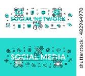 social media and social network ...   Shutterstock .eps vector #482964970