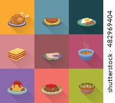 set of food menu of the day... | Shutterstock .eps vector #482969404
