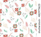 light pattern with flowers....   Shutterstock .eps vector #482975623
