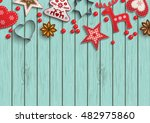 christmas background  small... | Shutterstock .eps vector #482975860