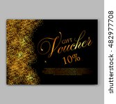 gold sparkles on black... | Shutterstock .eps vector #482977708