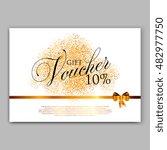 gold sparkles on white... | Shutterstock .eps vector #482977750