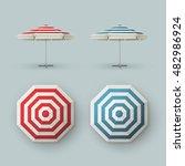 vector set of white blank red... | Shutterstock .eps vector #482986924