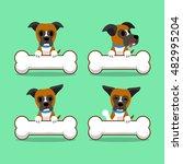 Cartoon Character Boxer Dog...