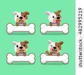 cartoon character bulldog with... | Shutterstock .eps vector #482995219