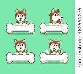 cartoon character brown... | Shutterstock .eps vector #482995279