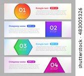 banners set number modern... | Shutterstock .eps vector #483005326