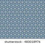 seamless light blue isometric... | Shutterstock . vector #483018976