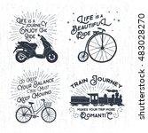 Hand Drawn Vintage Labels Set...