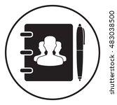 notebook  address  phone book... | Shutterstock .eps vector #483038500