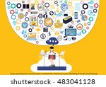 vector search business... | Shutterstock .eps vector #483041128