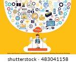 vector search business... | Shutterstock .eps vector #483041158