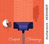 carpet cleaning vector concept. ... | Shutterstock .eps vector #483044809