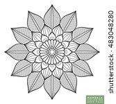 flower mandala. vintage... | Shutterstock .eps vector #483048280