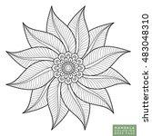 flower mandala. vintage... | Shutterstock .eps vector #483048310
