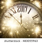 2017 new year shining... | Shutterstock .eps vector #483055963