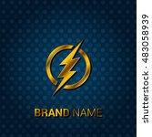 the flash royal golden   blue... | Shutterstock .eps vector #483058939