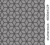 black and white graphic pattern ... | Shutterstock .eps vector #483064129