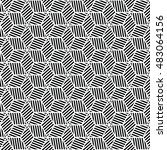 black and white graphic pattern ... | Shutterstock .eps vector #483064156