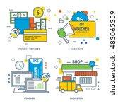 concept of payment methods ... | Shutterstock .eps vector #483065359