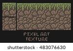 vector pixel art texture of... | Shutterstock .eps vector #483076630