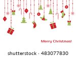 christmas vector greeting card... | Shutterstock .eps vector #483077830