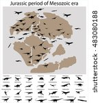 Dinosaurs Of Jurassic Period O...