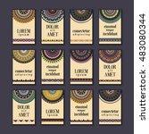 vintage banners cards set.... | Shutterstock .eps vector #483080344