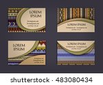 business card or visiting card... | Shutterstock .eps vector #483080434