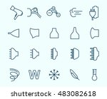 hair dryer properties icons.... | Shutterstock .eps vector #483082618
