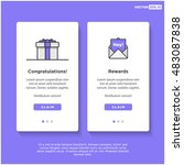 gift box card template  ui ux...