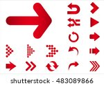 arrow vector 3d button icon set ... | Shutterstock .eps vector #483089866