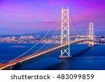 akashi kaikyo bridge spanning... | Shutterstock . vector #483099859