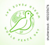 international peace day with... | Shutterstock .eps vector #483105676