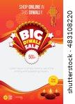 diwali offer design template  ... | Shutterstock .eps vector #483108220